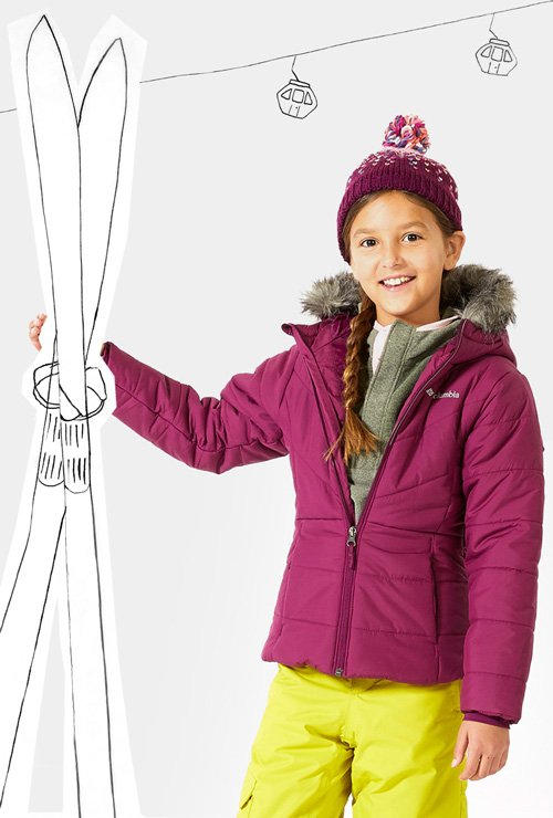Clickable image of girl wearing a puffer jacket
