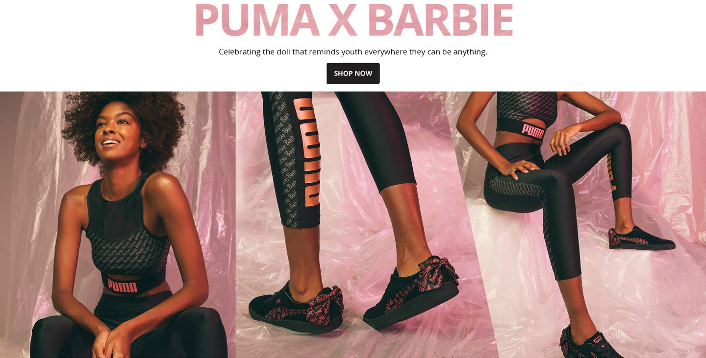 Puma X Barbie. Celebrating the doll that reminds youth everywhere they can be anything. Shop Now.