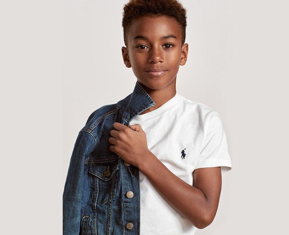 Image of boy wearing ralph lauren