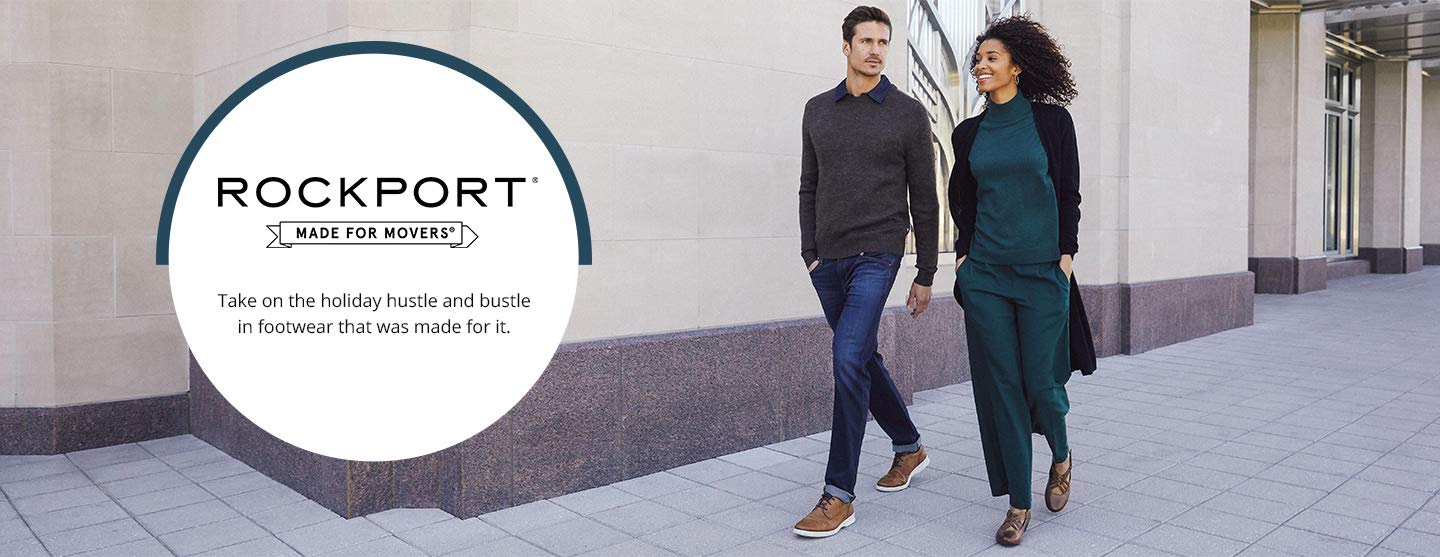 Rockport. Made for movers. Take on the holiday hustle and bustle in footwear that was made for it.