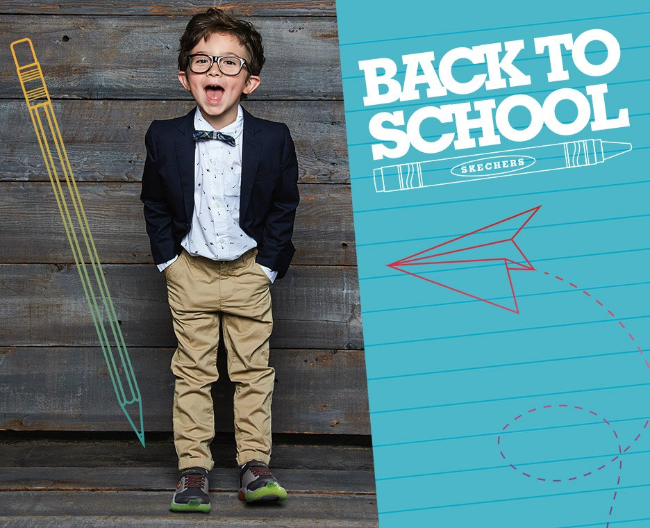Skechers back to school for boys.