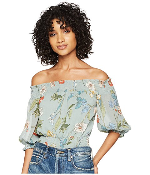 Image of Women's off the shoulder top. links to all spring new arrivals in tops and shirts.