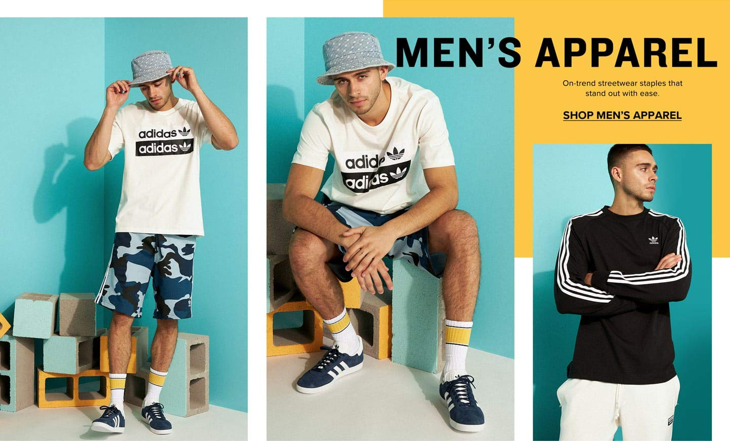 MEN'S APPAREL. On-trend streetwear staples that standout with ease. SHOP MEN'S APPAREL.