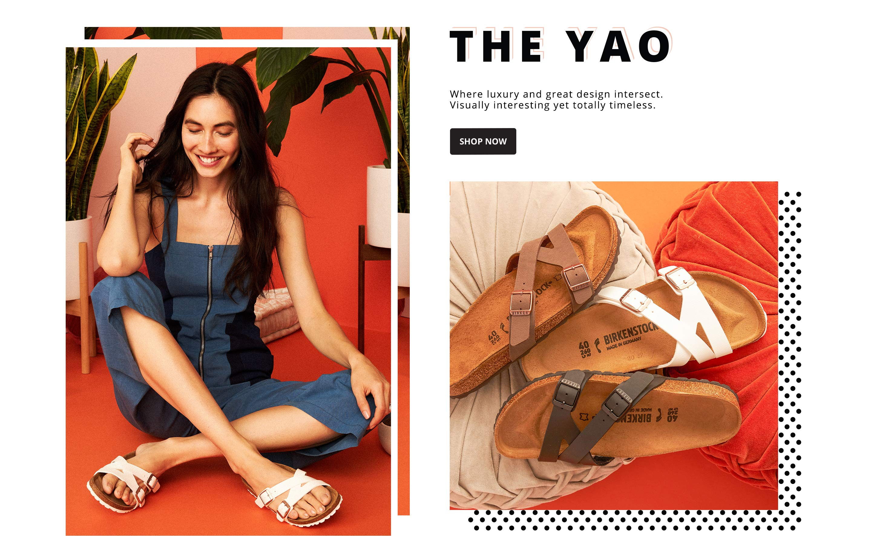 The Yao. Where luxury and great design intersect. Visually interesting yet totally timeless. SHOP NOW.