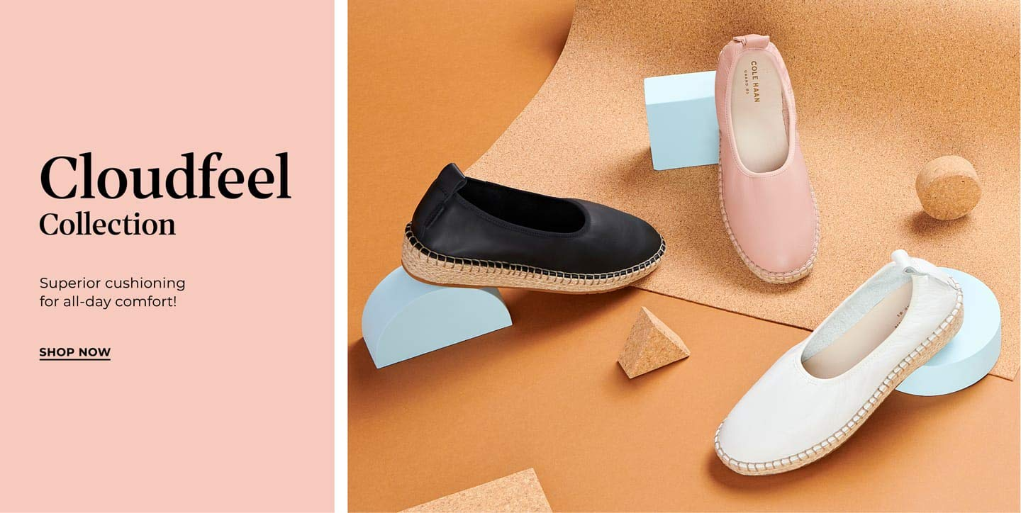 Cloudfeel Collection. Superior cushioning for all-day comfort! Shop Now.