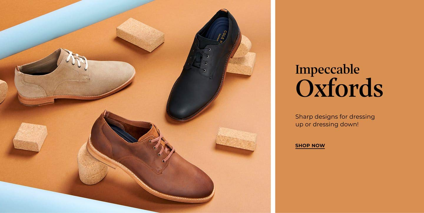 Impeccable Oxfords. Sharp designs for dressing up or down! Shop Now!