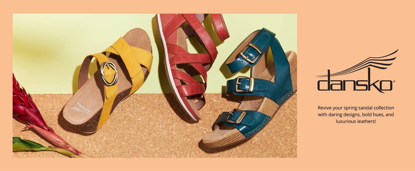 Dansko. Revive your spring sandal collection with daring designs, bold hues, and luxurious leathers!