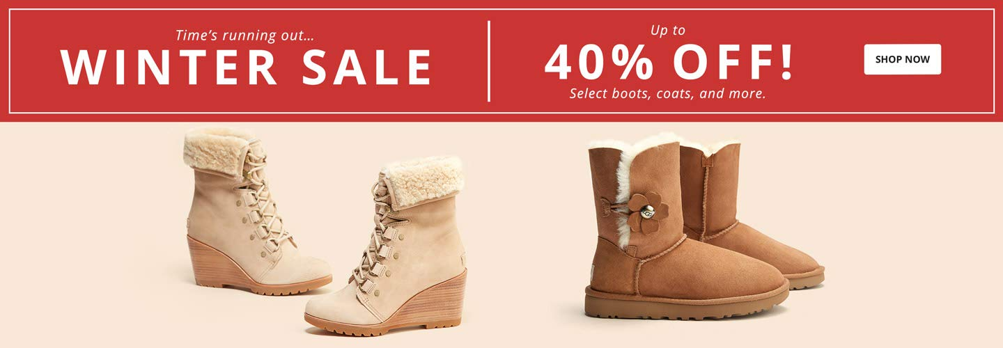 TIme's running out...Winter Sale. Up to 40% off! Select boots, coats, and more. Shop now.