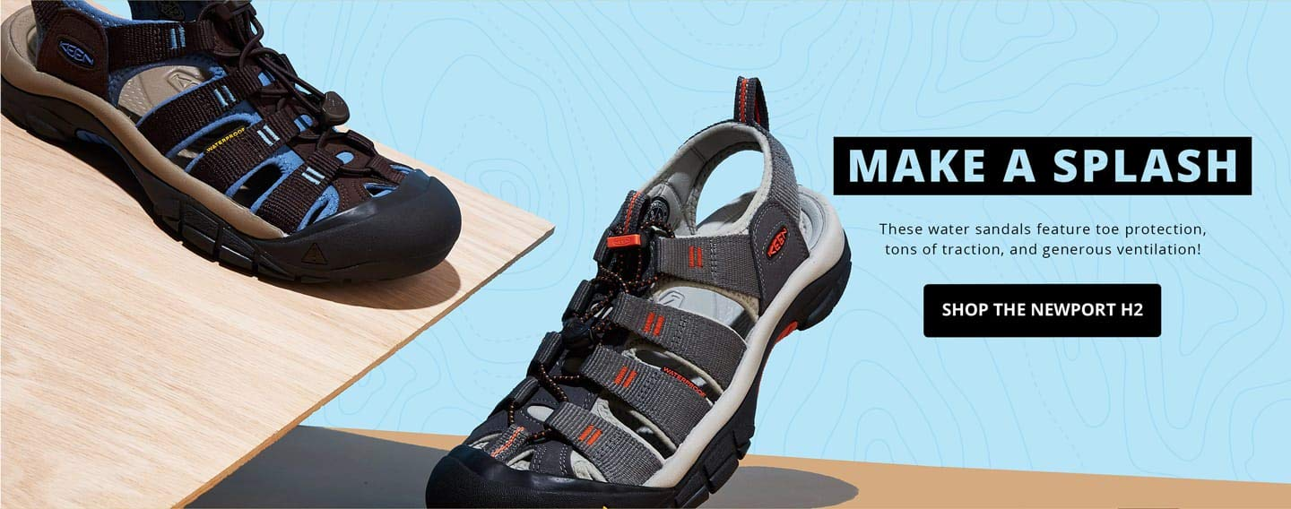 Make a splash. These water Sandals feature toe protection, tons of traction, and generous ventilation!