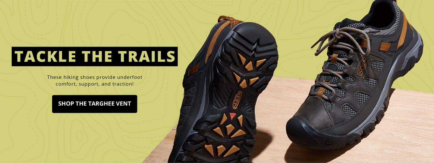 Tackle the trails. These hiking shoes provide underfoot comfort, support, and traction! Shop the Targhee Vent.