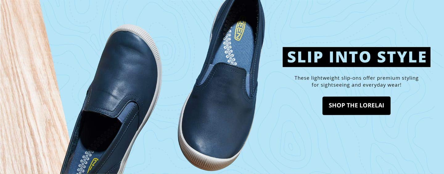 Slip into style. These lightweight slip-ons offer premium styling for sightseeing and everyday wear!