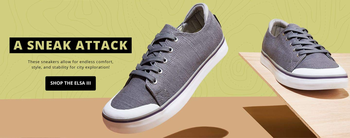 A sneak attack. These sneakers allow for endless comfort, style, and stability for city exploration! Shop the Elsa III