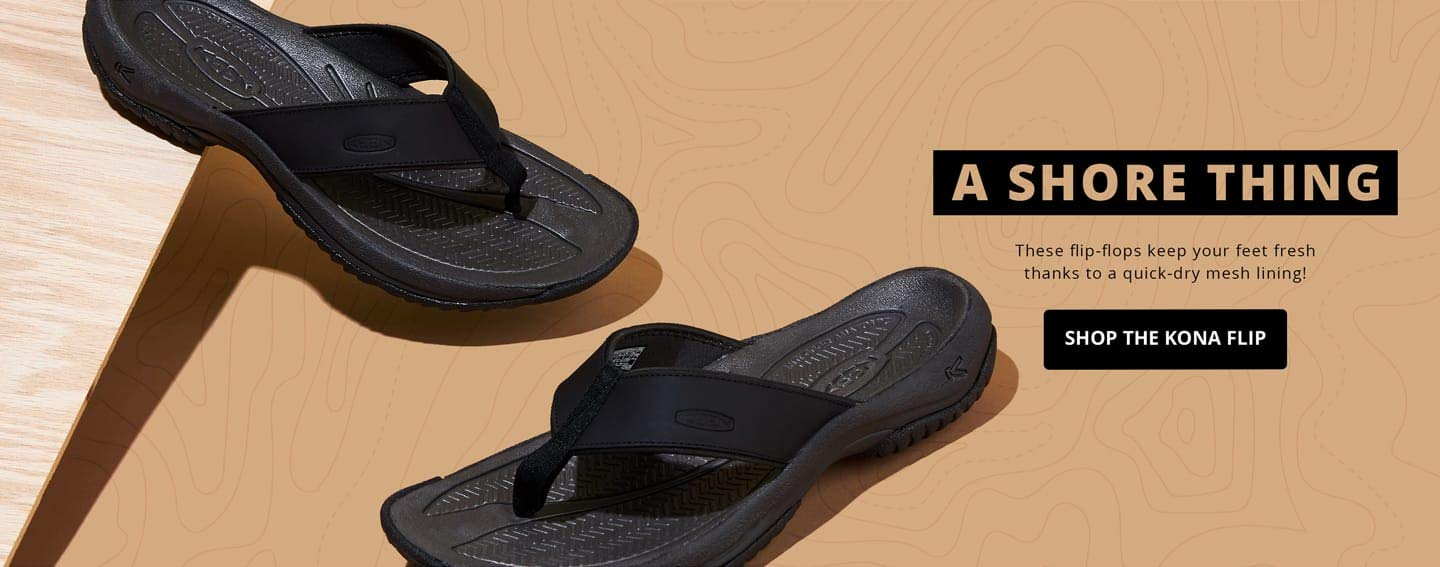 A shore things. These flip-flops keep your feet fresh thanks to a quick-dry mesh lining! Shop the Kona Flip.