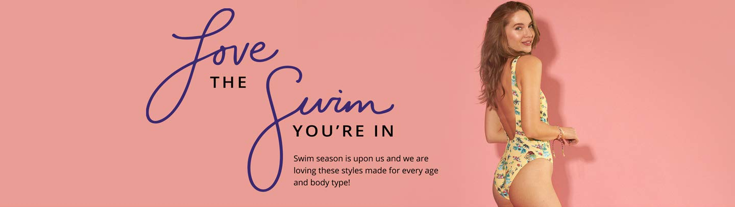 Love the swim you're in. Swim season is upon us and we loving these styles made for every age and body type!