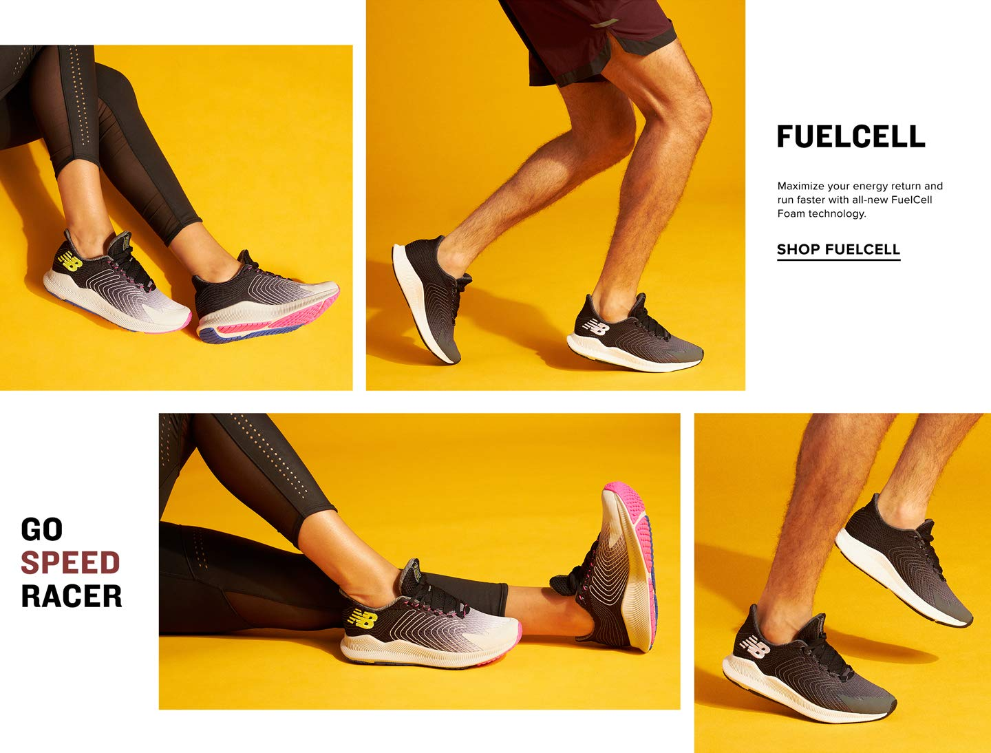 Maximize your energy return and run faster with all-new FuelCell Foam Technology. Shop Fuelcell