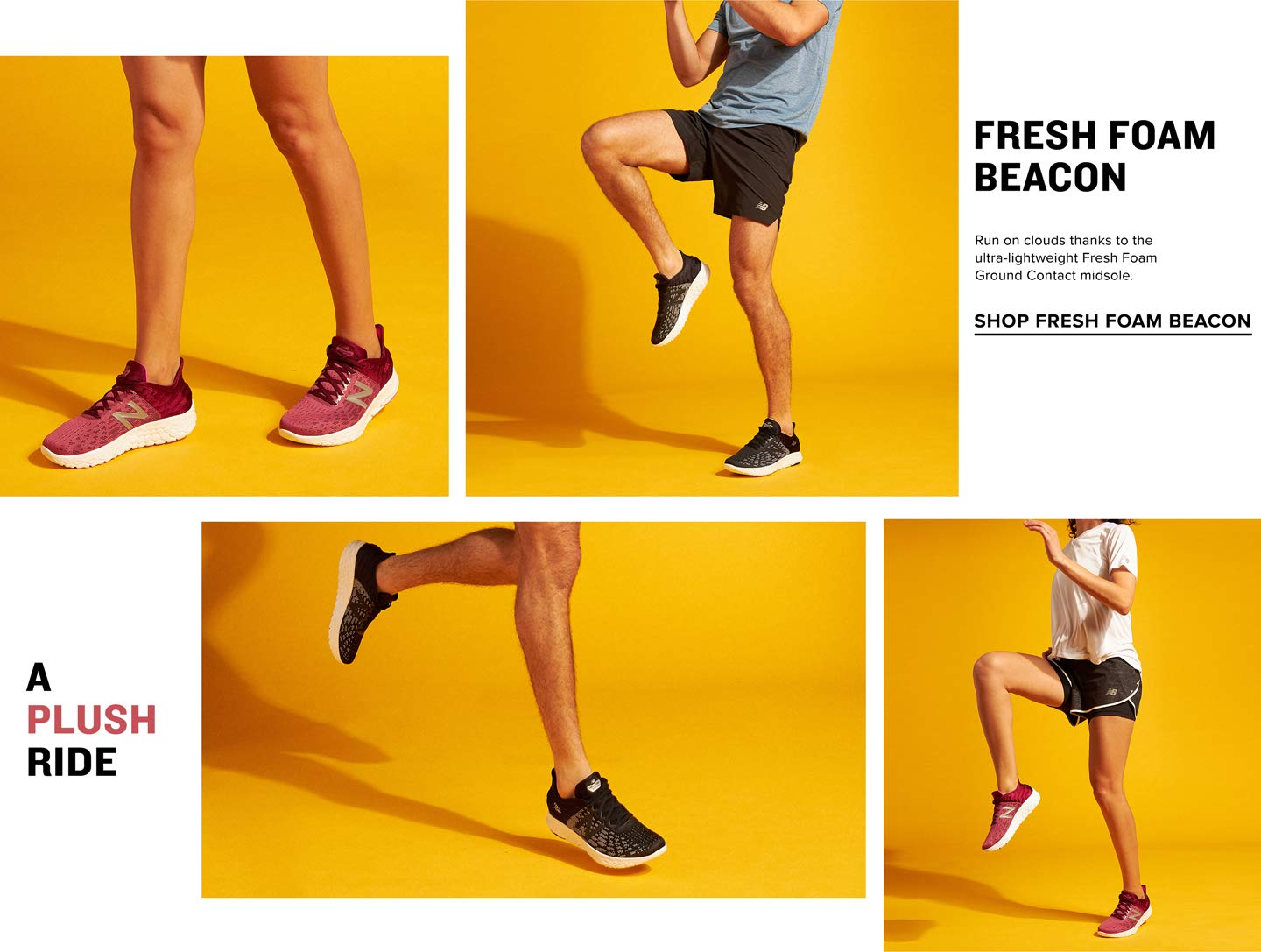 Run on clouds thanks to the ultra-lightweight Fresh Foam Ground Contact Midsole. Shop Fresh Foam Beacon.