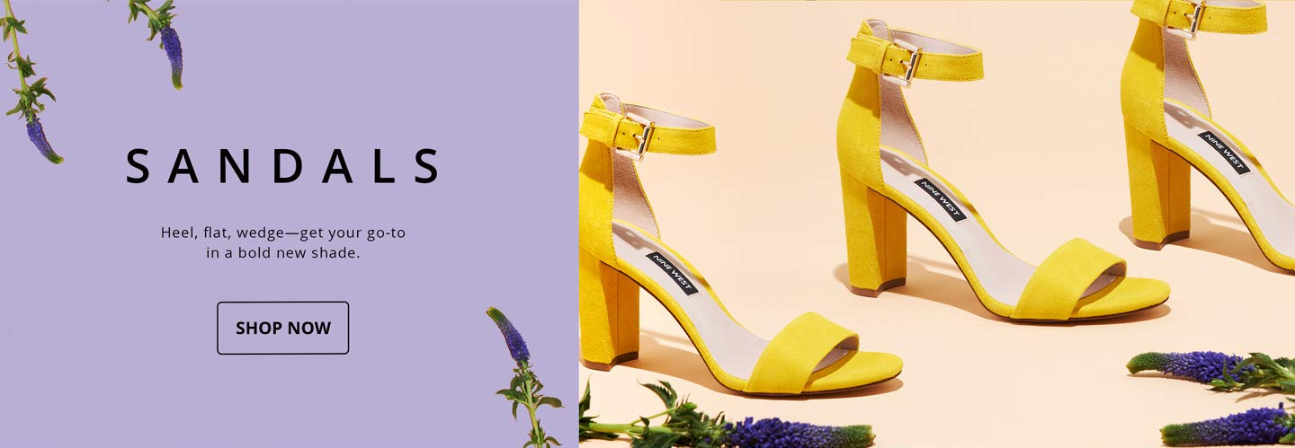Sandals. Heel, flat, wedge—get your go-to in a bold new shade. SHOP NOW