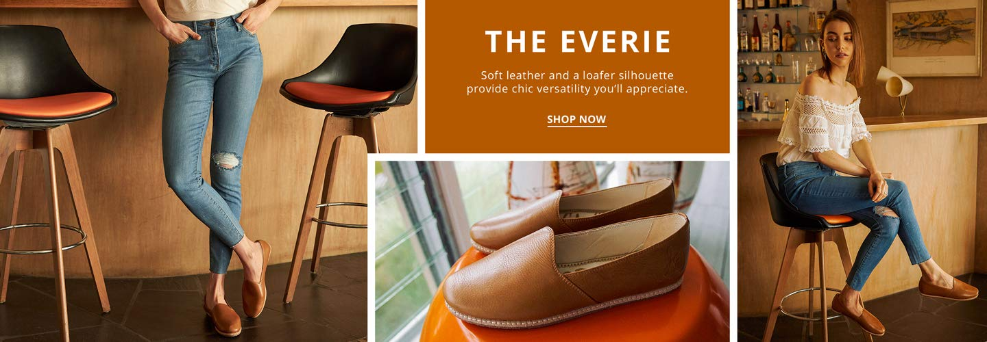 The Everie. Soft leather and a loafer silhouette provide a chic versatility you'll appreciate.Shop Now.