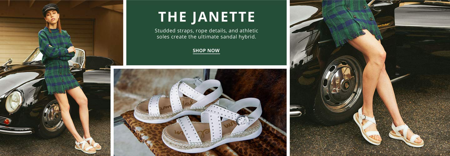 The Janette. Studded straps, rope details, and athletic soles create the ultimate sandal hybrid. Shop Now.