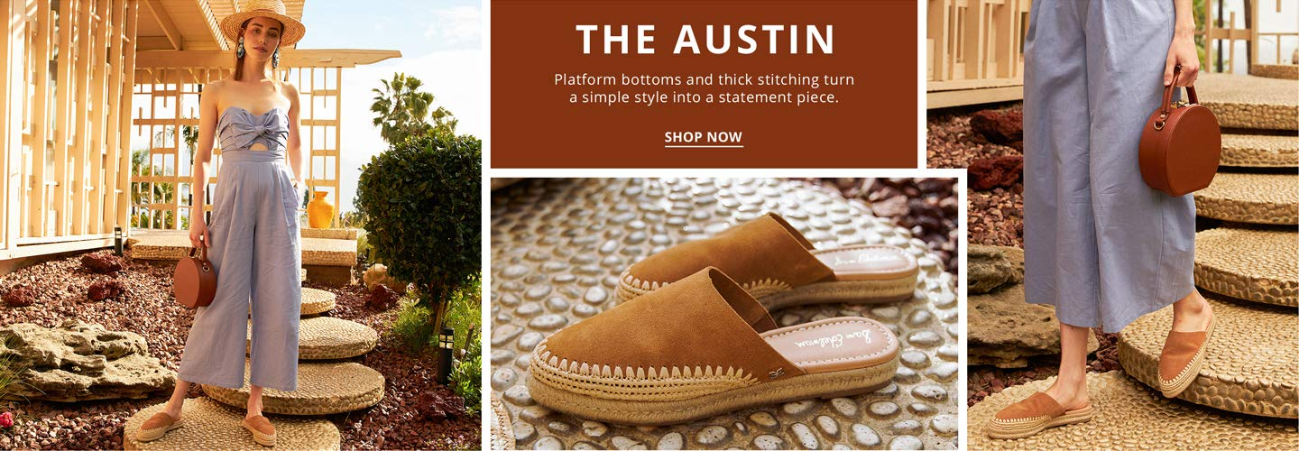 The Austin. Platform bottoms and thick stitching turn a simple style into a statement piece. Shop Now.