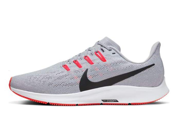 Nike Air Zoom Pegasus 36 Wolf Grey Bright Crimson