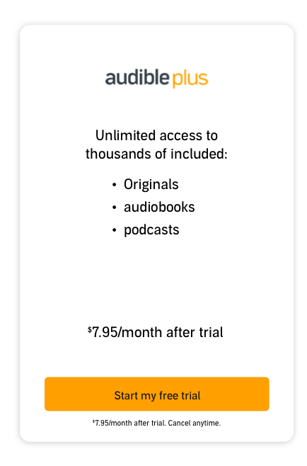 Audible Plus Plan