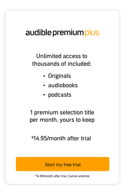 Audible Premium Plus Plan