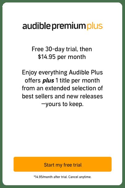 Audible Premium Plus Plan