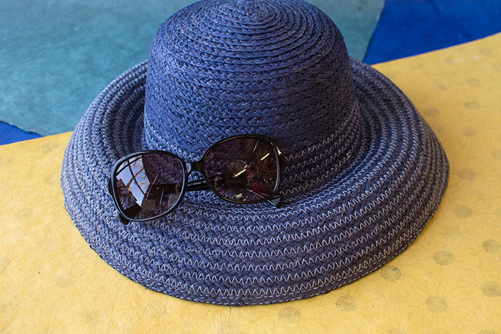 Blue Women's Hat And Sunglasses