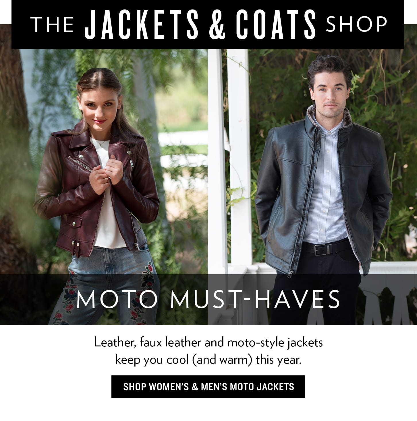 Leather And Moto Jackets For Men & Women