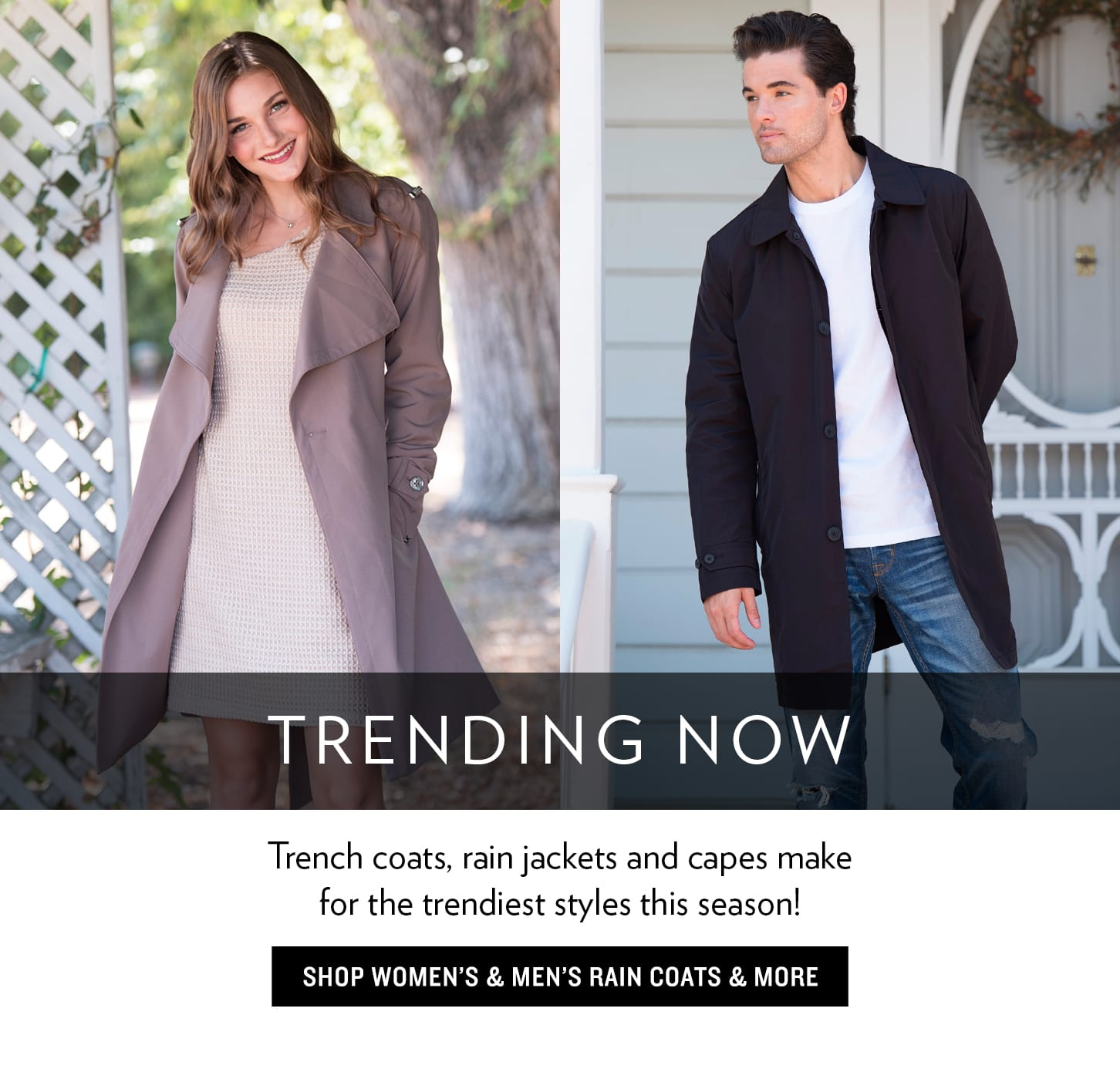 Trench And Cape Coats For Men & Women
