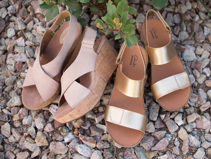 Tan And Gold Comfort Sandals