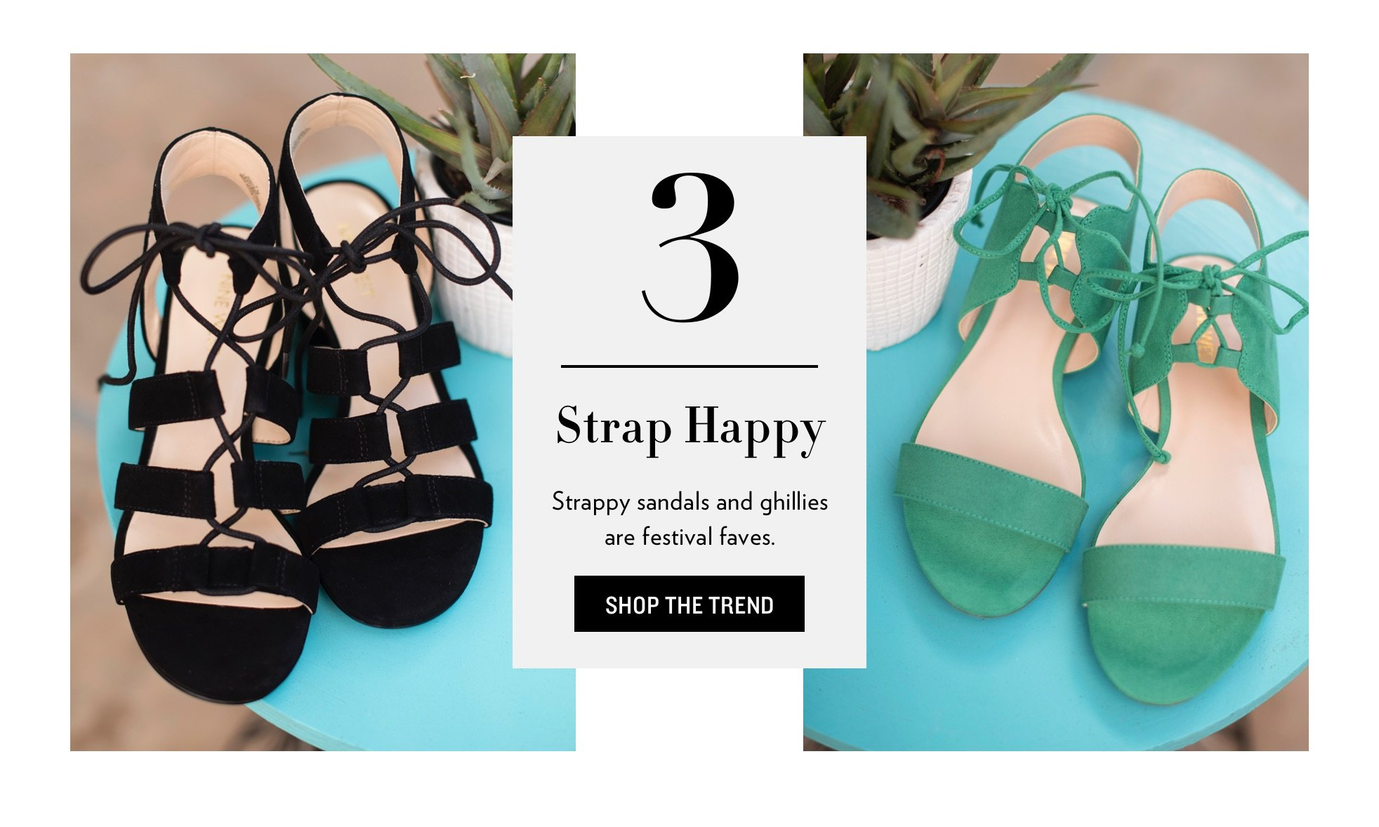 Ghillies And Strappy Sandals Trend