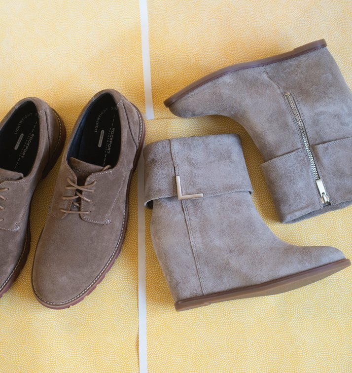 Johnston & Murphy Footwear Taupe Wedges And Rockport Men's Shoes