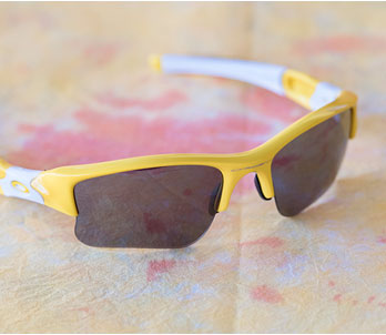 Oakley Grey And Yellow Semi-Rimless Frames