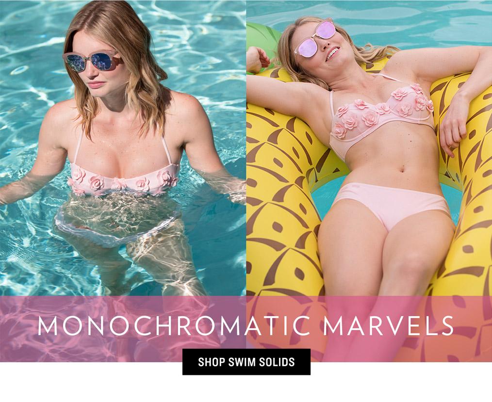 Women's Swim Trends - Monochromatic Marvels