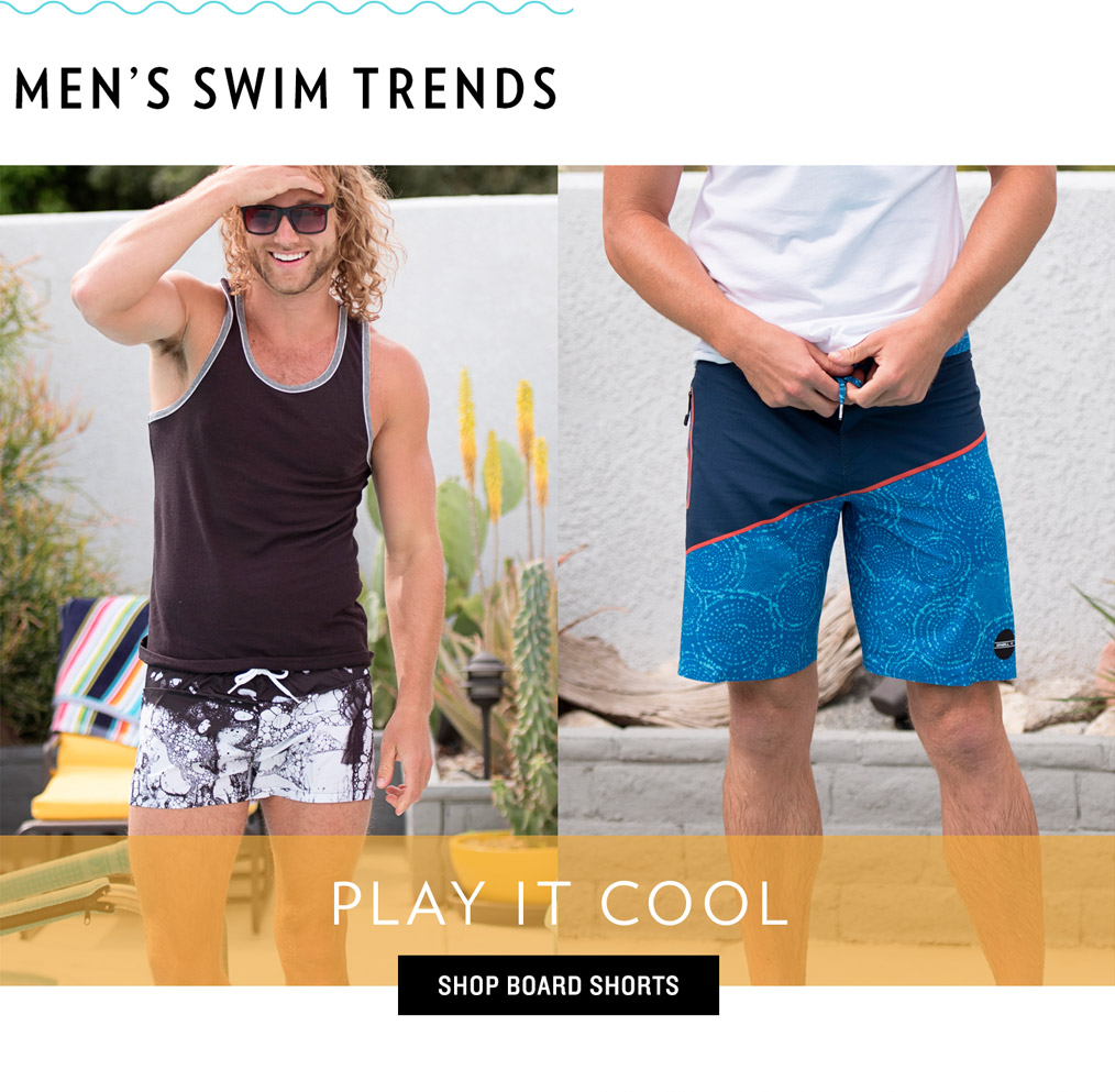 Men's Swim Trends - Play it Cool