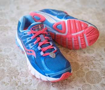 Pink And Blue Saucony Sneakers