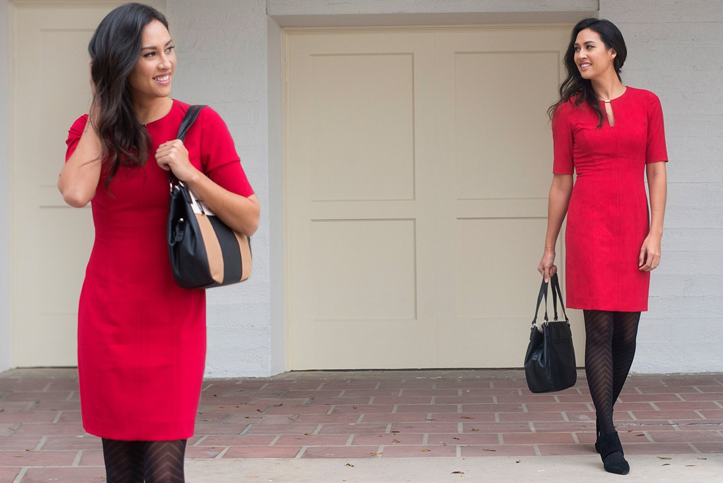 Red Office Style Dress