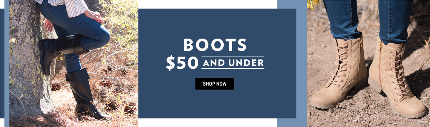 Shop $50 and Under Boots