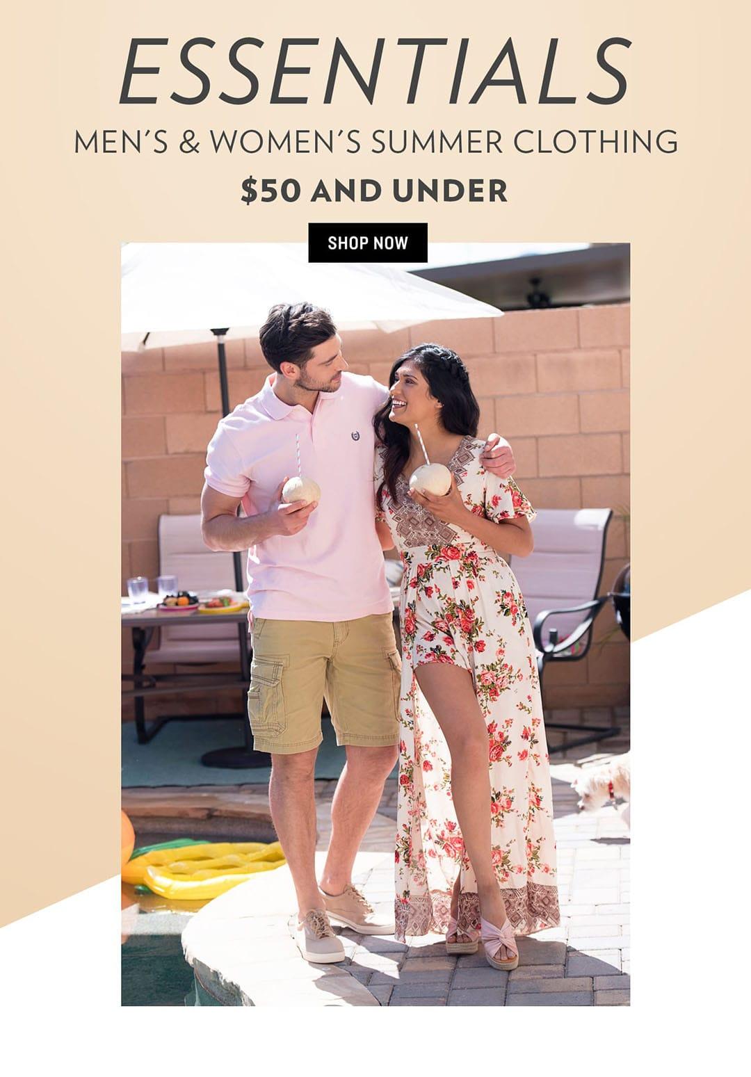 Shop Men's & Women's Summer Clothing