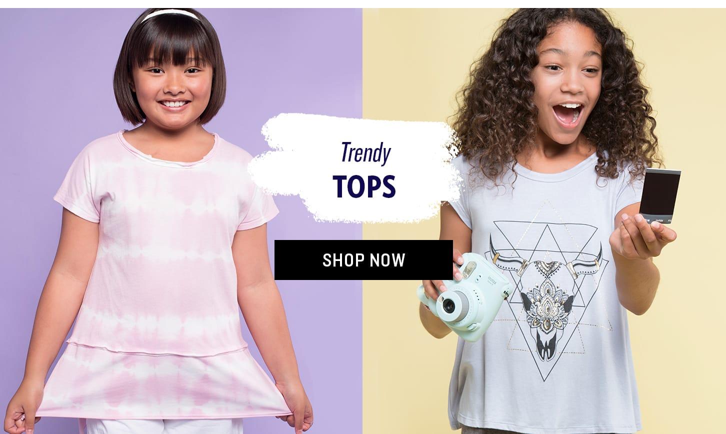 Shop Girls' Trendy Tops
