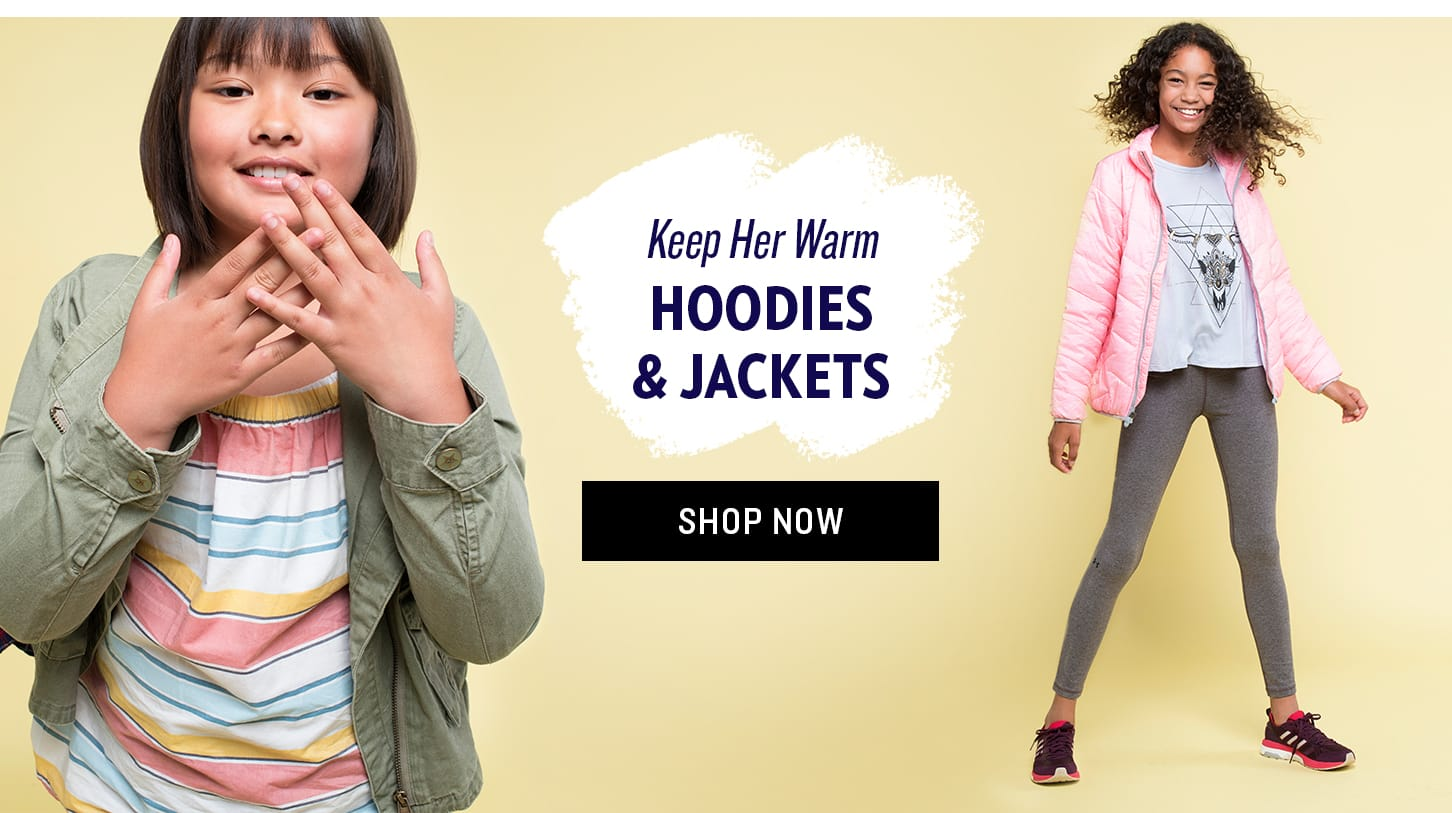 Shop Girls' Hoodies and Jackets