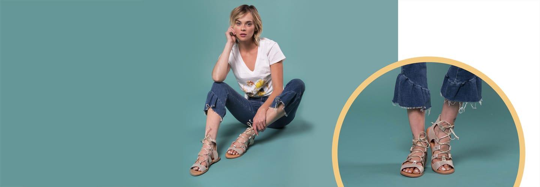 Shop Lace-Up Sandals