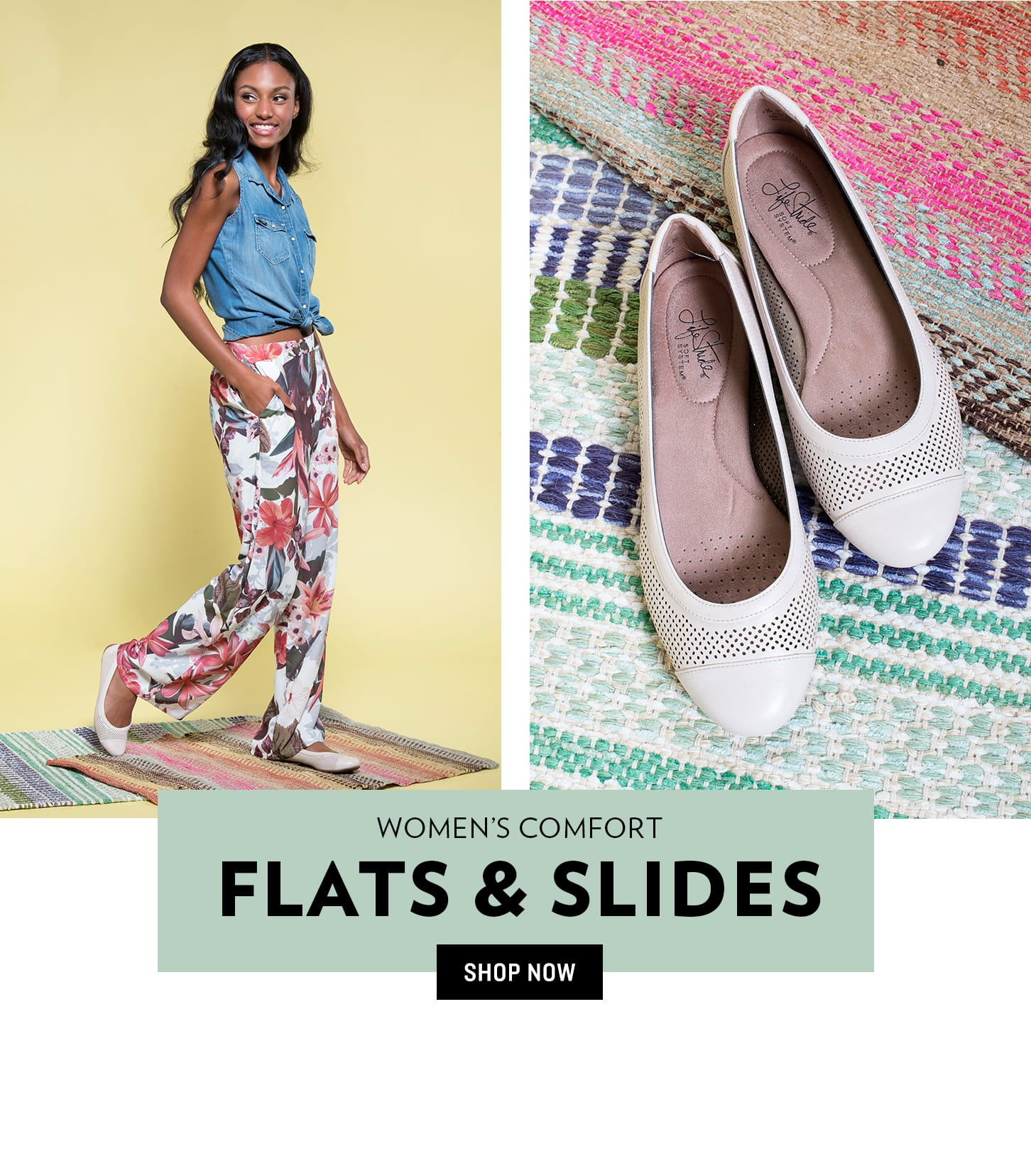 Shop Women's Comfort Flats & Slides