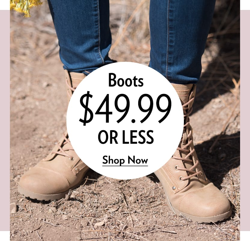 Bargain Boots $49.99 or Less