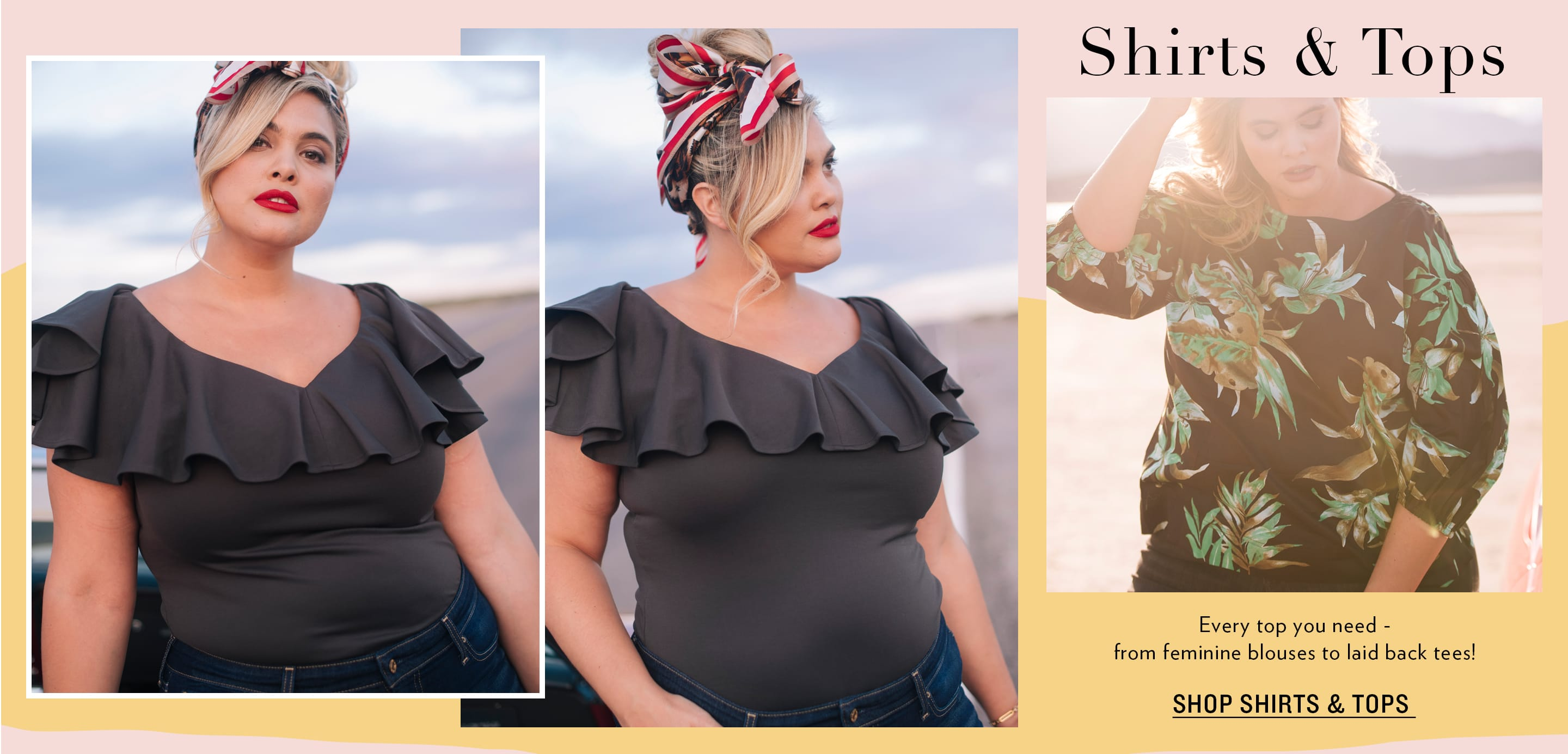 Plus Size Shirts & Tops
