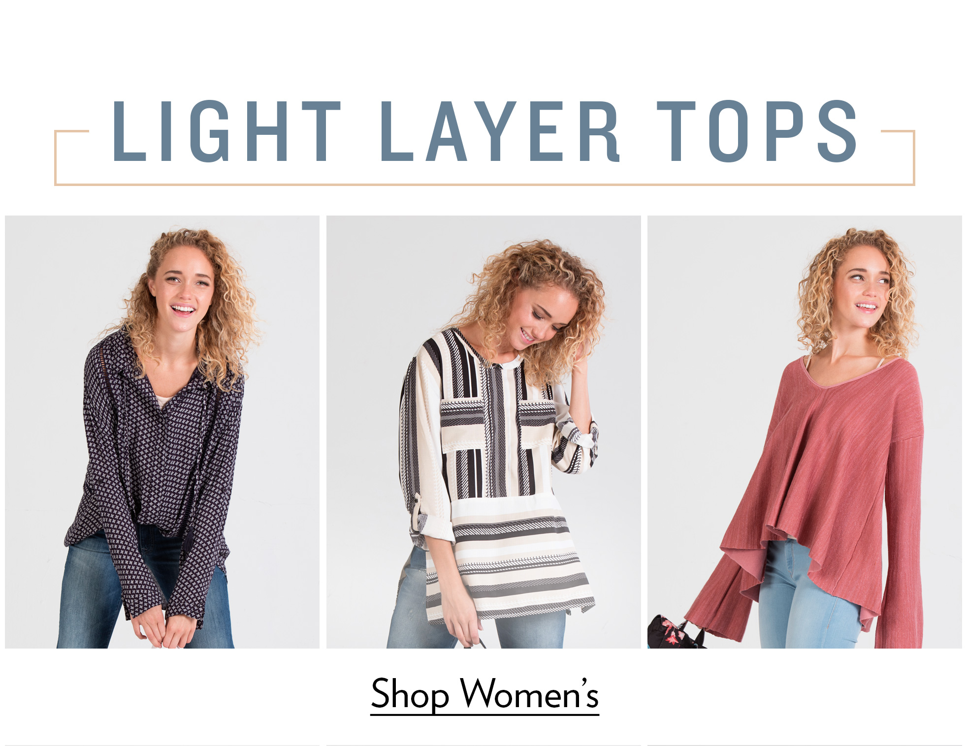 Women's Light Layer Tops