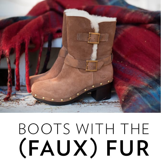 Shearling & Boots with Faux Fur