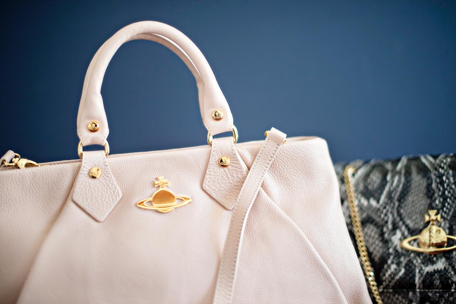 White Designer Tote Handbag